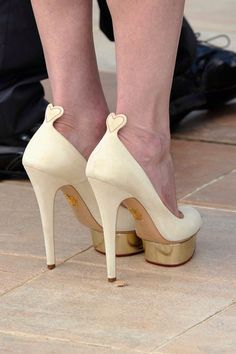 Charlotte olympia heart detail shoes.