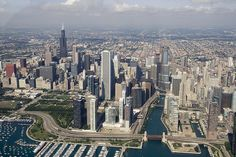 Chicago Downtown Aerial | Flickr - Photo Sharing!