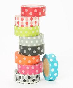 Polka Dot Washi Tape Set by Two Berry Creative #zulily #zulilyfinds
