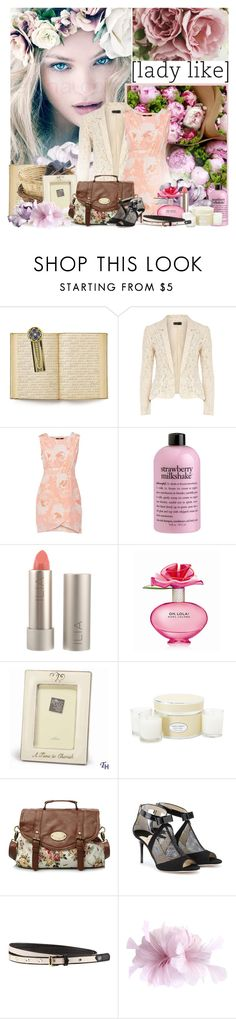 """""""Lady Like"""" by giko-is-giantsister ❤ liked on Polyvore featuring Luna, Dirty Pretty Things, The Vatican Library Collection, Dorothy Perkins, philosophy, Ilia, Marc Jacobs, Laura Ashley, Jimmy Choo and H&M"""