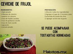 Ceviche de Frijol HABITOS.MX
