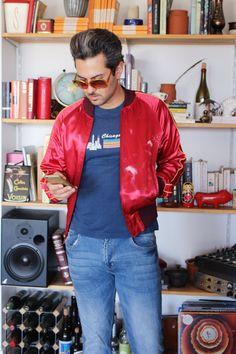 Varsity Jacken für Männer Vintage 80er von HausofDenimandLace