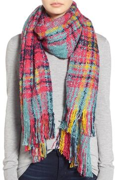 Accessories 212 Plaid Bouclé Scarf available at #Nordstrom