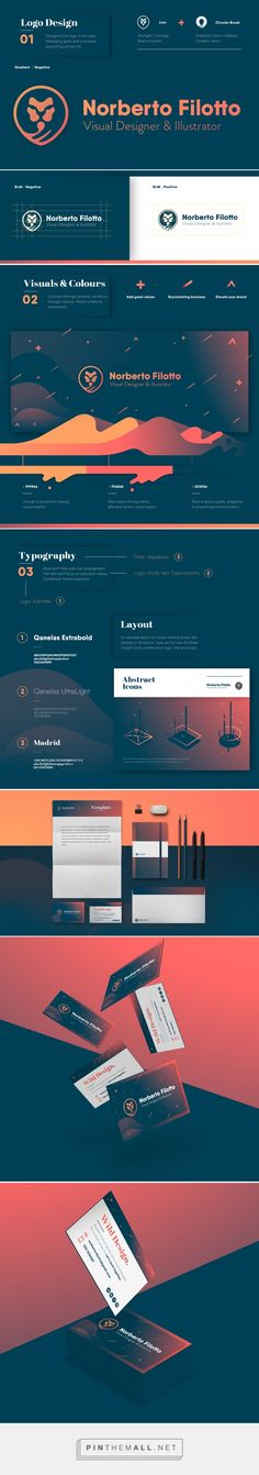 Norberto Filotto • Personal Brand 2017  –––––––––––––––––––––––––  #Logo #BrandIdentity #Lion #modern #design   High quality link here: https://www.behance.net/gallery/57100355/Norberto-Filotto-Personal-Brand-2017  on Behance - created via https://pinthemall.net