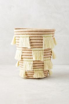 The top 25 Anthropologie home decor items you will want in your bedroom, like this playful basket. Decorating Tips, Interior Decorating, Interior Design, Anthropologie Home, Diy Inspiration, Table Accessories, Decorative Storage, Home Decor Items, Home Goods