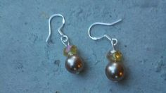Sterling Silver and Swarovski Pearl Earrings by Shelithas on Etsy, $14.99