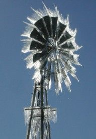 ice on windmill