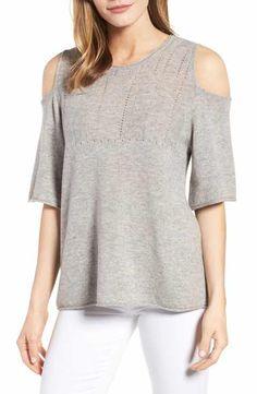 Velvet by Graham & Spencer Cashmere Cold Shoulder Sweater