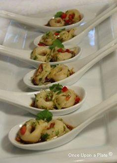 Sesame Tortellini Spoons Appetizer