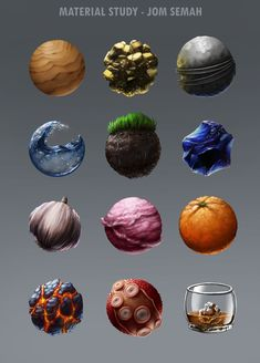 A highly needed material study! Texture Drawing, Texture Art, Texture Painting, Digital Painting Tutorials, Art Tutorials, Colorful Drawings, Art Drawings, Magia Elemental, Environment Concept Art