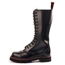 Aderlass 14-Eye Steel Boots Leather (Black)