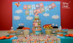 I want Kainoa's party to be trains, trucks and planes. I love this birthday banner
