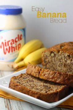 Easiest Banana Bread EVER featuring KRAFT MIRACLE WHIP Dressing | Renee's Kitchen Adventures #TasteTheMiracle #Ad