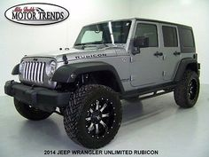 Jeep : Wrangler Unlimited Rubicon Sport Utility 4-Door 2014 jeep wrangler unlimited rubicon hardtop custom lift kit fuel wheels nav 25 k