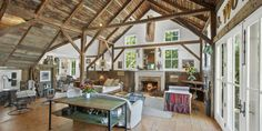 This Converted English Barn Is All About the Ceilings