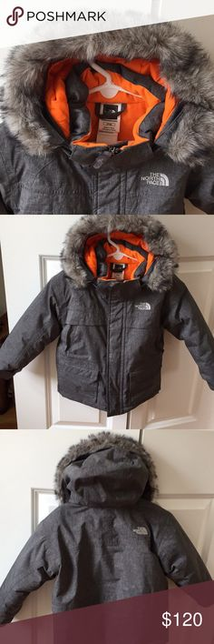 Boys winter coat Great condition. Winter coat detachable hood and fur. Pockets in front with Velcro at sleeves. Very comfy and super cute.  Great coat North Face Jackets & Coats Puffers