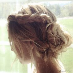 gorgeous braided updo.