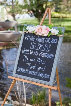 Brianna & Branden Wedding at Windmill House in Chino Valley, Arizona is part of Unplugged wedding sign - Brianna & Branden's blue and white wedding in front of the lake at the Windmill House in Chino Valley, Arizona by PMA Photography Cute Wedding Ideas, Wedding Goals, Wedding Tips, Elegant Wedding, Perfect Wedding, Diy Wedding, Wedding Planning, Dream Wedding, Wedding Day