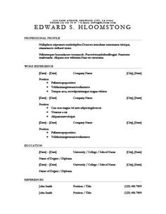 Basic Chronological Resume Templates  Chronological Resume