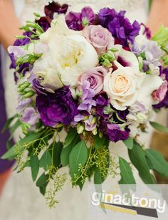 Featured Bouquet | Vintage Garden Purple Bouquet | by www.kiokreations.com photo by Gina and Tony Photographers