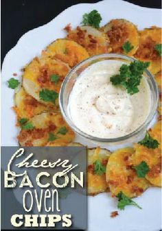 Cheesy Bacon Oven Chips – The perfect mix of bacon, cheese, and potatoes! A tasty appetizer for the big game.
