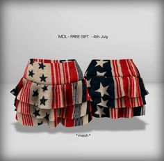 MDL 4th July Ruffle Skirt (Group Gift)