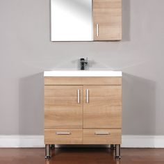 Modern - modern - bathroom vanities and sink consoles - houston - by Home Design Outlet Center Texas Light Oak, 30 And Single, Vanity Set, Modern Bathroom, Sink, House Design, Bathroom Vanities, Consoles, Houston