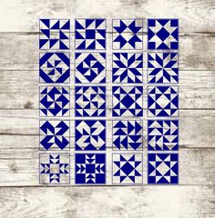 Barn Quilt Designs, Barn Quilt Patterns, Pattern Blocks, Quilting Designs, Half Square Triangle Quilts Pattern, Square Quilt, Schrift Design, Painted Barn Quilts, Two Color Quilts