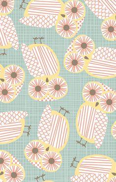 Little Owls II by lodesign (aka Liz Ablashi at Eine Kleine Design Studio)