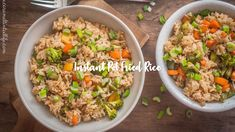 Easy Instant Pot fried rice is a lighter and easier way of making fried rice. Vegetable Fried Rice, Fried Vegetables, Veggies, Pressure Cooker Rice, Instant Pot Pressure Cooker, Pressure Cooking Recipes, Crock Pot Cooking, Vegan Fried Rice, Pots