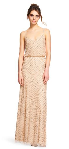 Adrianna Papell | Art deco blouson beaded gown