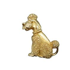 """""""How much is that doggie in the window?"""" Well not very much if you shop with #stuff4uand4u. This whimsical little pup is a sweet poodle dipped in gold with textured puffs of coiffed perfection. It's your #broochapproach to style."""