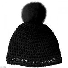 Kit Rico Design - Wild wild wool - Gorro con gemas - Negro - Fotografía n°2