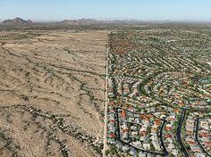 Navajo Reservation / Suburb Phoenix, Arizona, USA, 2011. By Edward Burtynsky