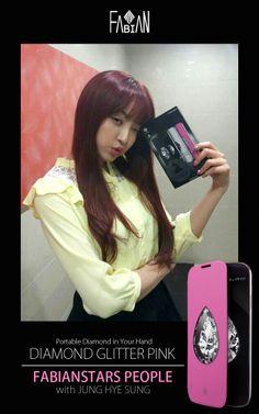 FABIAN with STAR - JUNG HYE SUNG :) DIAMOND GLITTER PINK