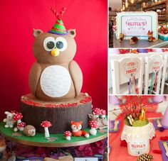 This Modern & Vibrant Woodland Birthday Party is just WAY TOO CUTE!