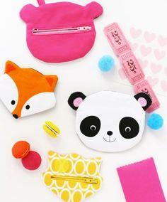 ann kelle fox and panda zipper pouch sewing tutorial! Oh just too cute!