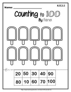 Count to 100 by Tens and Ones by Asif You Had Time | TpT Kindergarten Math K.CC.1.1 Counting by 10