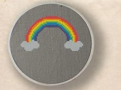 Rainbow. Cross Stitch PDF Pattern