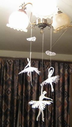 snowflakes and ballerina silhouette tutorial and printable