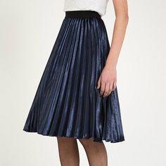 Louche Satin Kamea Skirt
