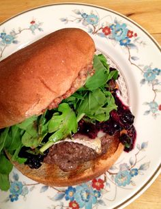 Blackberry Brie Burger via From the Little Yellow Kitchen
