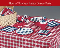 How to throw an Italian dinner party, including menu ideas, the order of at traditional Italian meal, and decor ideas.
