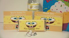 Spongebob Squarepants Complete Party Favors by Uniquewrapsbybj, $25.00