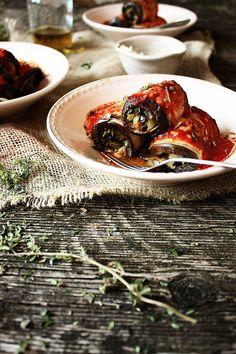 Pratos e Travessas: Involtini de beringela e bacalhau | Eggplant and cod involtini | Food, photography and stories