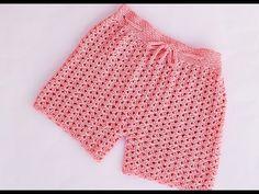 Shorts Tejidos A Crochet, Crochet Shorts Pattern, Crochet Blouse, Crochet Patterns, Crochet Classes, Crochet Videos, Crochet Projects, Crochet Girls, Crochet For Kids