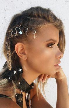 Starlight Hair Ring Silver