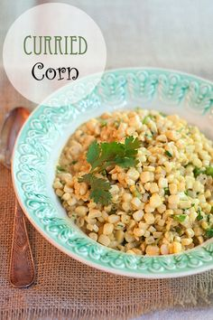Curried Corn - an old southern side dish from @NevrEnoughThyme http://www.lanascooking.com/2014/08/26/curried-corn/ #progressiveeats #corn #summer #curry #southern