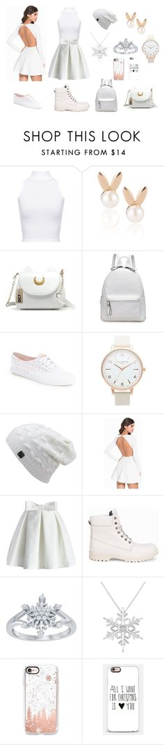 """""""Winter Wonderland"""" by bethanycromwell on Polyvore featuring WearAll, Aamaya by Priyanka, Keds, Topshop, Chicwish, Svea, Disney, Allurez and Casetify"""