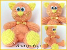 "Free pattern ""Cat Mandarin"" TERMS USED sc = single crochet st(s) = stitch (es) sc2tog = sc 2 together (decrease) R..."